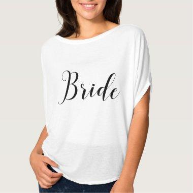 Bride. Bridal party. Modern black calligraphy T-Shirt