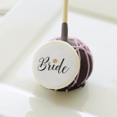 Bride  Wedding Elegant Cake Pops