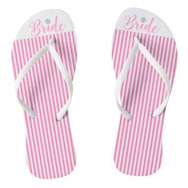 Bride, Bridal,Wedding, Pink Cute Flip Flops