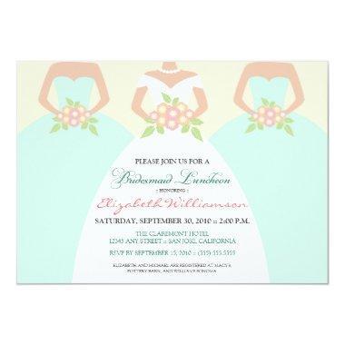 Bride & Bridesmaids Bridal Luncheon Invite (mint)