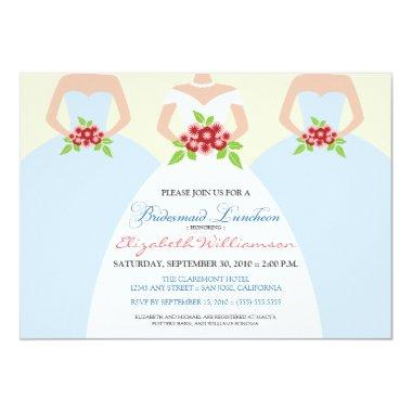 Bride & Bridesmaids Bridal Luncheon Invite (mist)