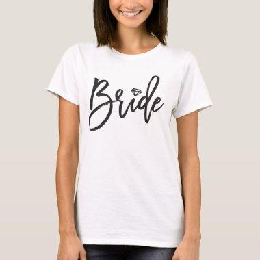 Bride Brush Diamond Bridal Party Wedding T-shirt