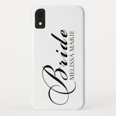 Bride Calligraphy Script iPhone XR Case