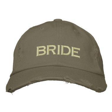 Bride cap in army green