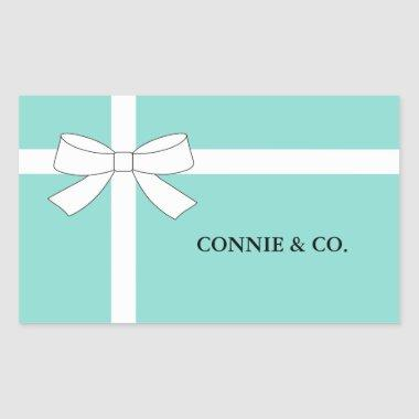 BRIDE & CO Bridal Personalized Celebration Party Rectangular Sticker