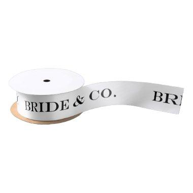 BRIDE & CO. Bride To Be Party Shower Party Ribbon