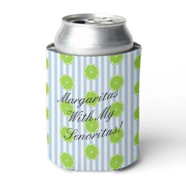 BRIDE & CO Lime Seersucker Bridesmaid Fiesta Party Can Cooler
