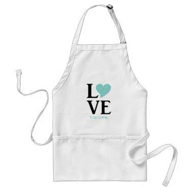 BRIDE & CO Love The Cook Tiara Shower Party Adult Apron