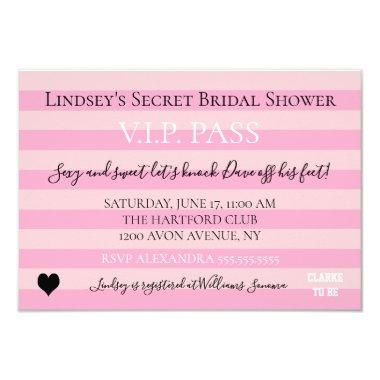 Bride & Co Pink Bridal Lingerie Shower Party Invitations