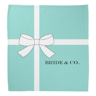 BRIDE & CO Teal Blue Personalize Party Shower Bandana