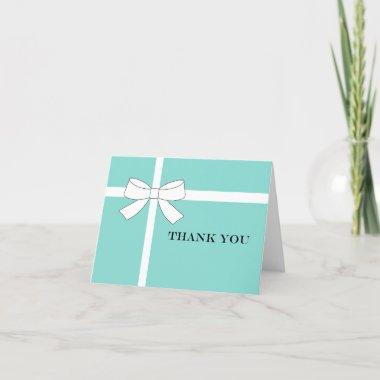 BRIDE & CO Teal Blue Reception Bridal Shower Party Thank You Invitations