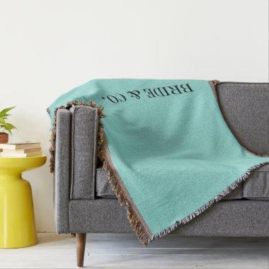 BRIDE & CO. Throw Blanket