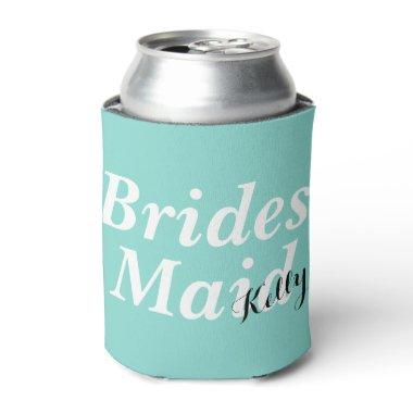 BRIDE & CO Tiffany Blue Bridesmaid Party Favor Can Cooler