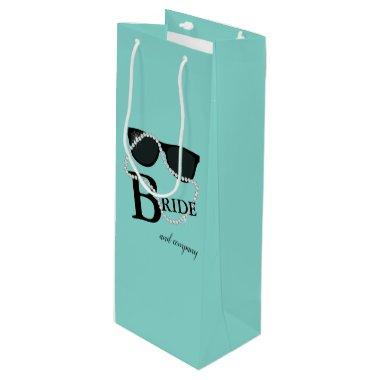 Bride Company Celebrate Diamond Tiara Party Favor Wine Gift Bag