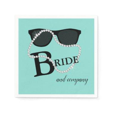 BRIDE Diamond Tiara Glam Party Shower Napkin