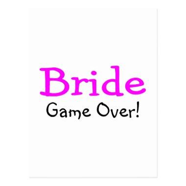 Bride Game Over Post