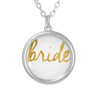 Bride Gifts Silver Plated Necklace