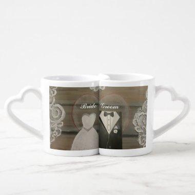 Bride & Groom Lovers Coffee Mug Set