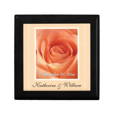 Bride & Groom Wedding Date Keepsake Gift Box
