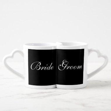 Bride Groom Wedding Save The Date Lover's Mugs