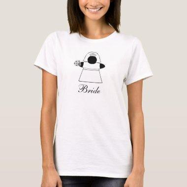 Bride Meeple gamer wedding  shirt