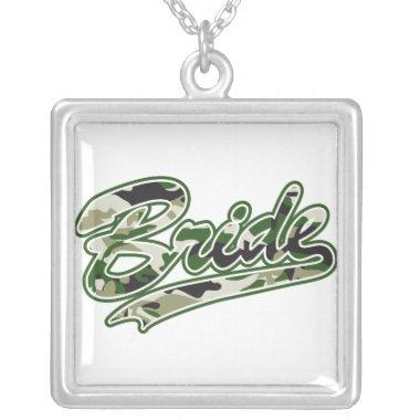 Bride Military /Bachelorette Party Silver Plated Necklace