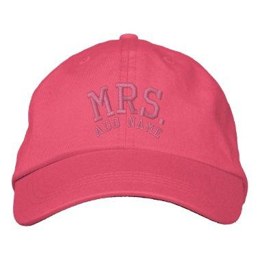 BRIDE - Mrs. Insert Name Embroidered Baseball Cap