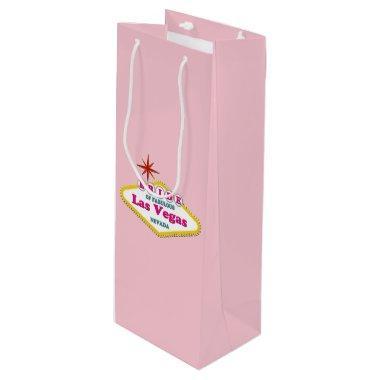 BRIDE of Las Vegas Custom Gift Bag - Wine, Glossy