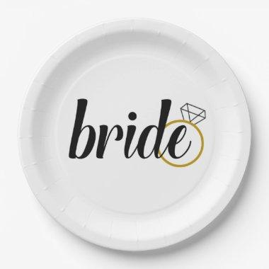 Bride Paper Plates for Engagement or