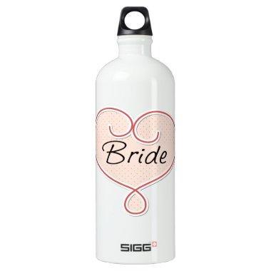 Bride Pink Heart Water Bottle