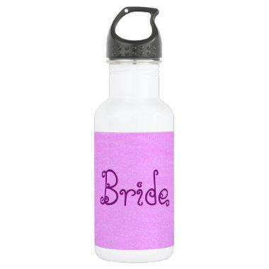 Bride Pink Stainless Steel Water Bottle