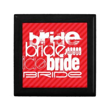 Bride; Scarlet Red Stripes Keepsake Box