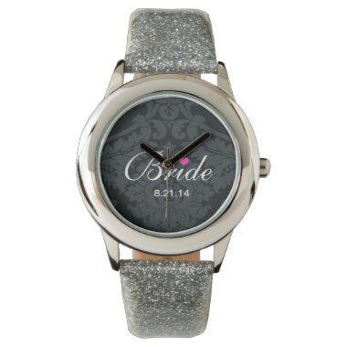 Bride Silver Glitter Watch