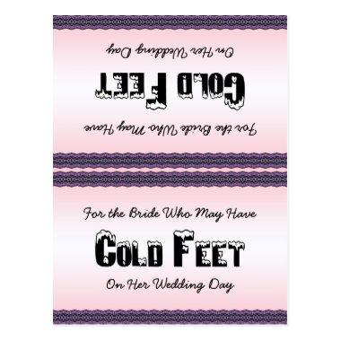 Bride Socks Cold Feet PostInvitations