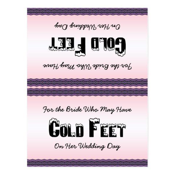 Bride Socks Cold Feet Post