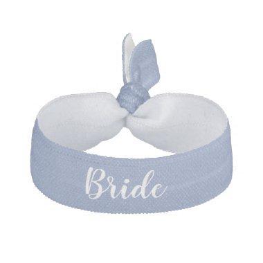 Bride Something Blue White Wedding Party Elastic Hair Tie
