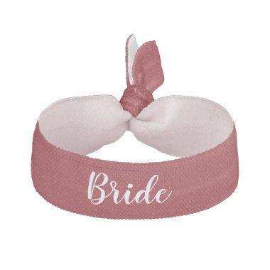 Bride Something Deep Red White Wedding Party Elastic Hair Tie