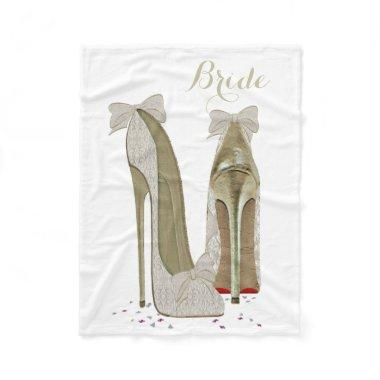 Bride Stiletto Shoes Art Fleece Blanket