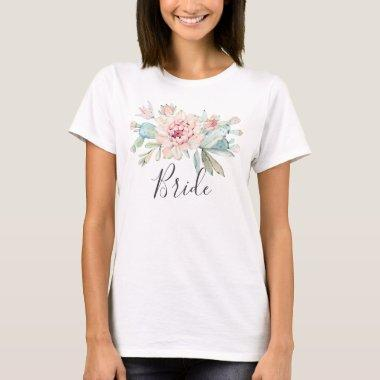 Bride. Succulents bridal party. Cactus wedding T-Shirt