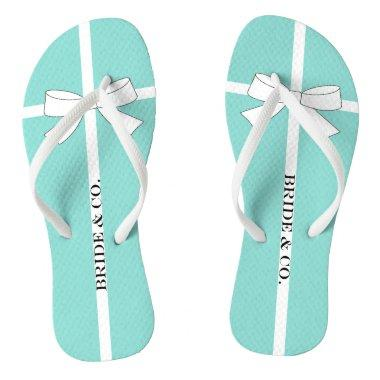 BRIDE Teal Shower Wedding Bridal Tiara Party Flip Flops