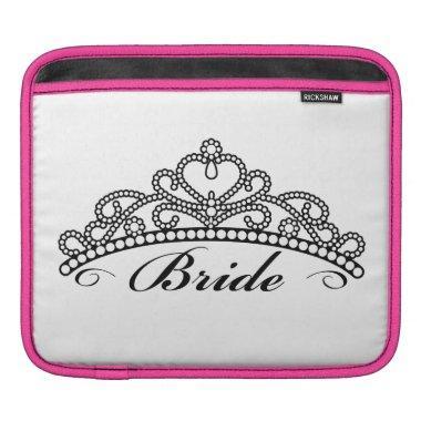 Bride Tiara iPad Sleeve