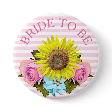 Bride to be bridal shower button