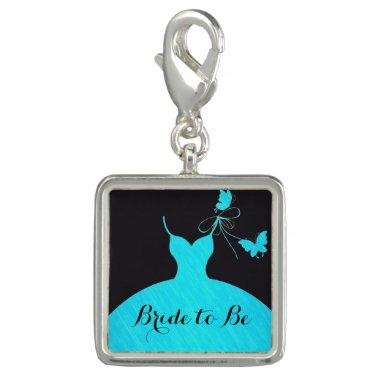 Bride to Be  Light Blue & Black Charm