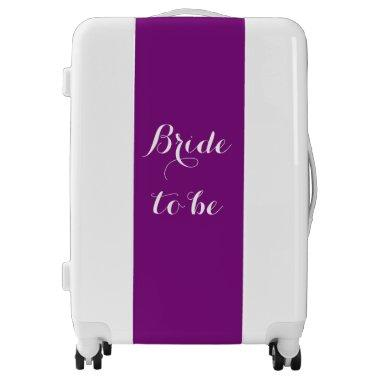 Bride To Be Purple White Wedding Bridal Party Luggage