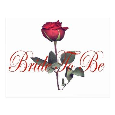 bride to be red rose post