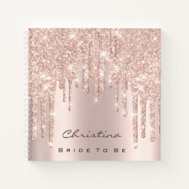 Bride To Be Sweet 16th Spark Princess Makeup Rose Notebook