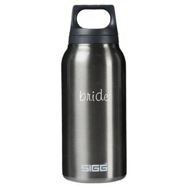 bride...to be waterbottle insulated water bottle