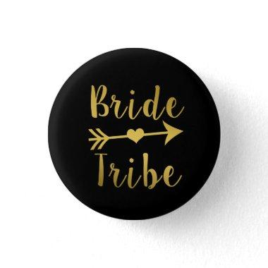 Bride Tribe Bridesmaid Gold button