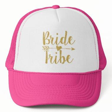 Bride Tribe|Golden Glitter-Print Trucker Hat