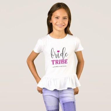 Bride Tribe Hot Pink Bridal Shirt for Flower Girl